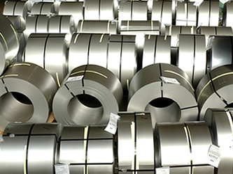 Packaged rolls of processed steel