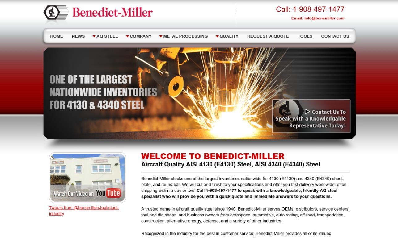 Benedict-Miller, Inc    Steel Service Centers