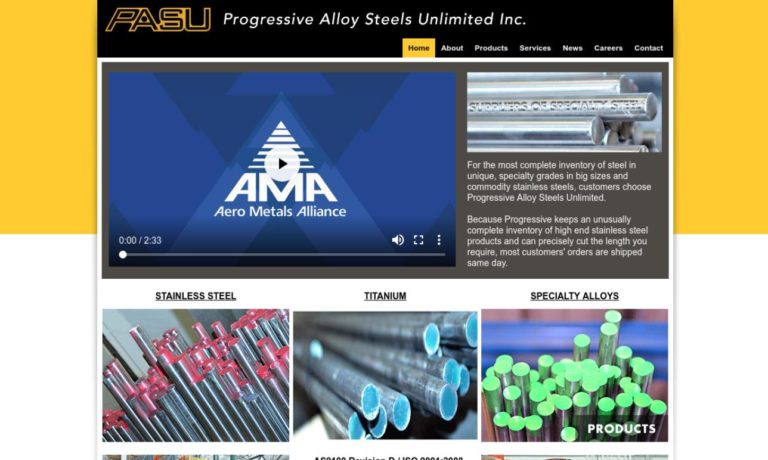 Progressive Alloy Steels Unlimited, Inc.